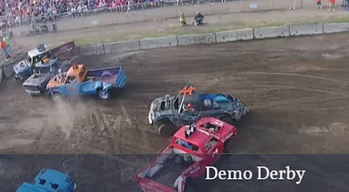 Demo Derby at the kandiyohi County Fair